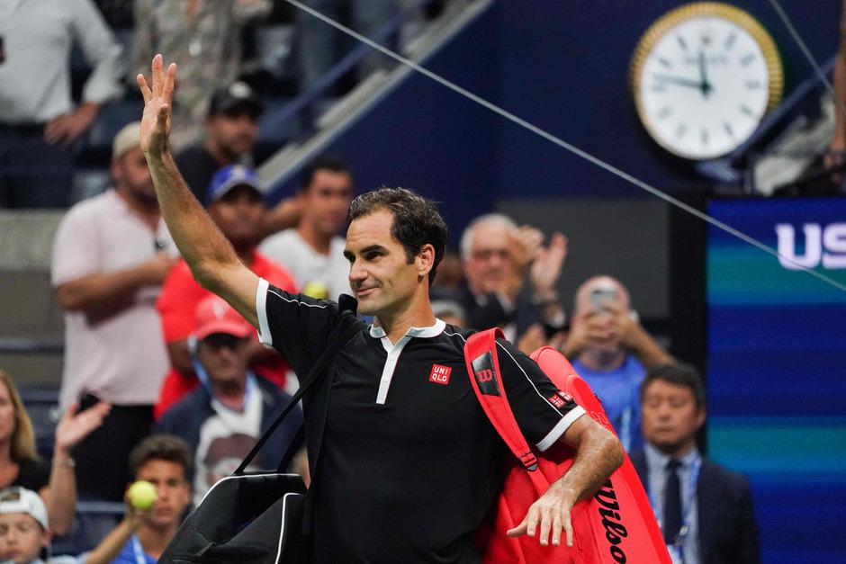 Roger Federer musste sich beim letzten Grand-Slam-Turnier der Saison nach 3:12 Stunden geschlagen geben.
