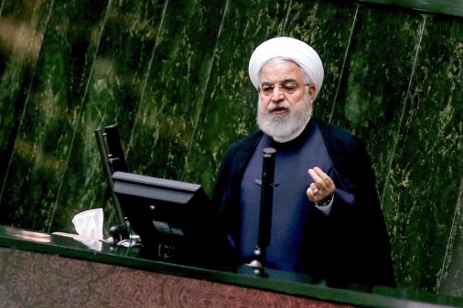Irans Präsident Hassan Rouhani im Parlament in Teheran.