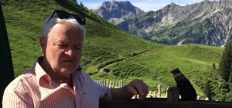 Bernhard Eggel genießt das Leben als Pensionist. Jeden Tag eine andere Alm – und das Allgäu hat viele.