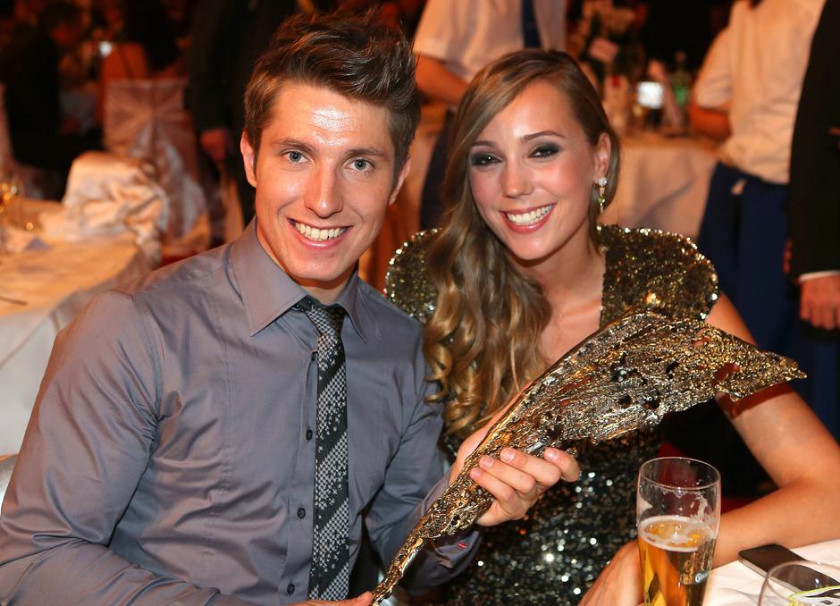 Fünf Mal Sportler des Jahres - Rekord für Hirscher, hier an der Seite von Ehefrau Laura.