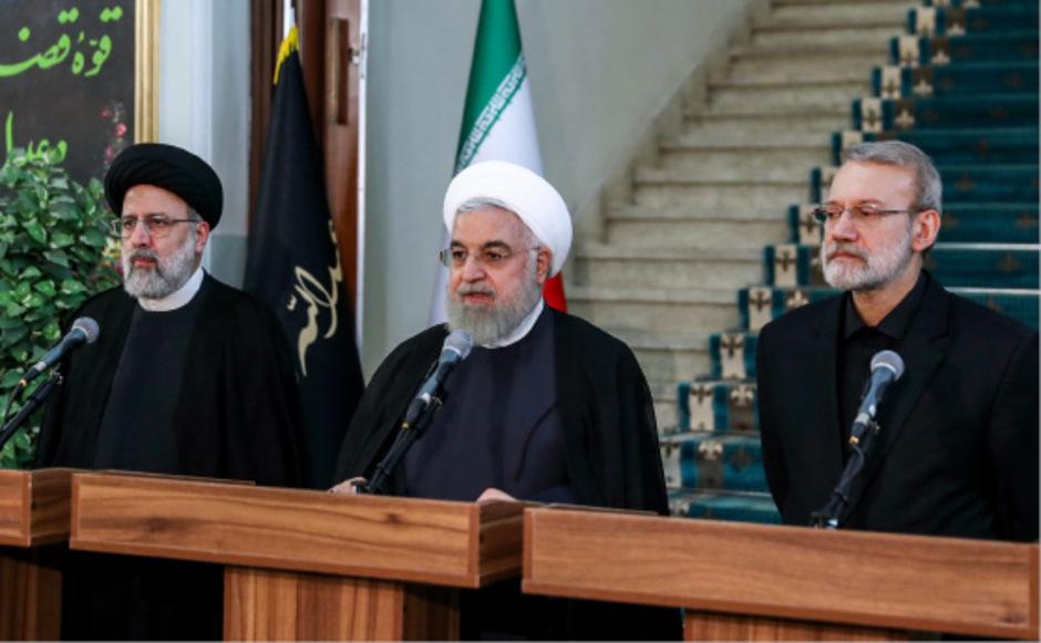 Rouhani bei seiner Ansprache.