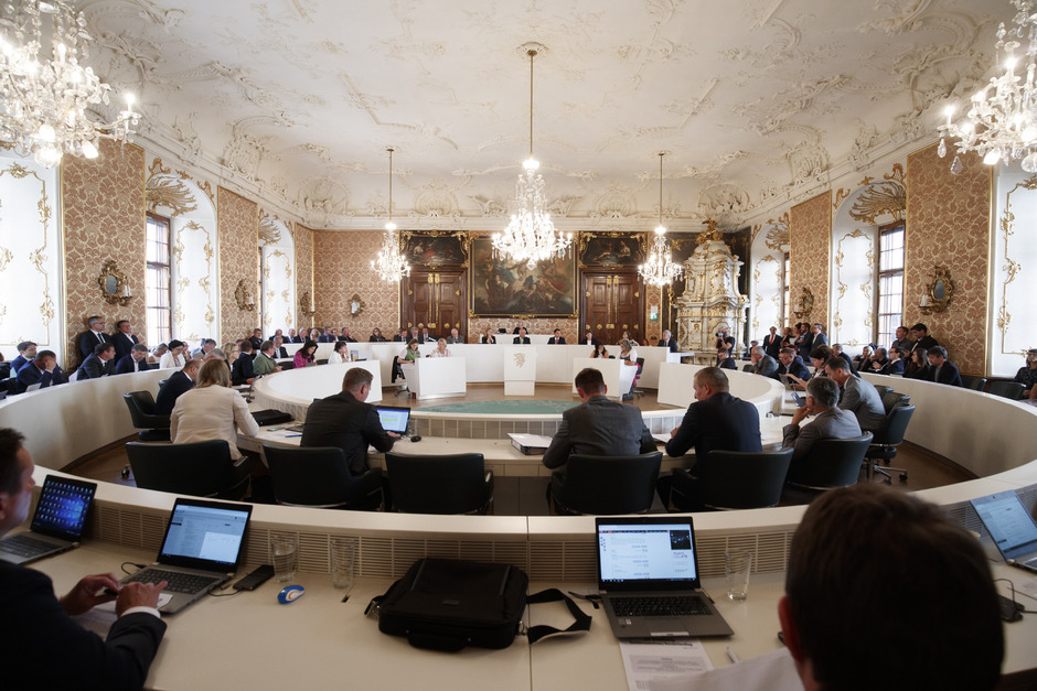 Der steirische Landtag stimmte mehrheitlich für seine Auflösung.
