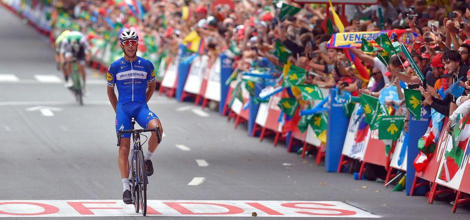 Der Belgier  Philippe Gilbert entschied die zwölfte Vuelta-Etappe für sich.