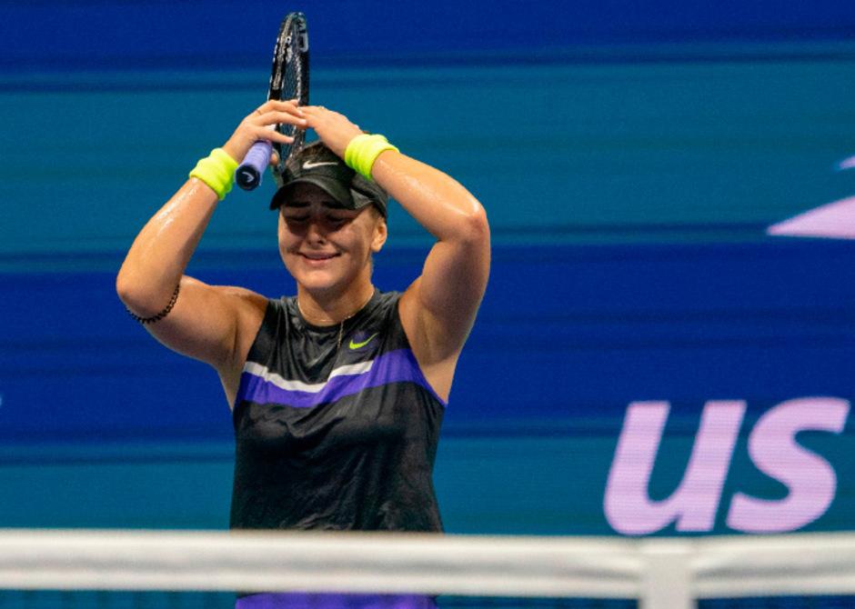 Bianca Andreescu konnte es selbst kaum fassen: Die 19-jährige Kanadierin steht im Finale der US Open.