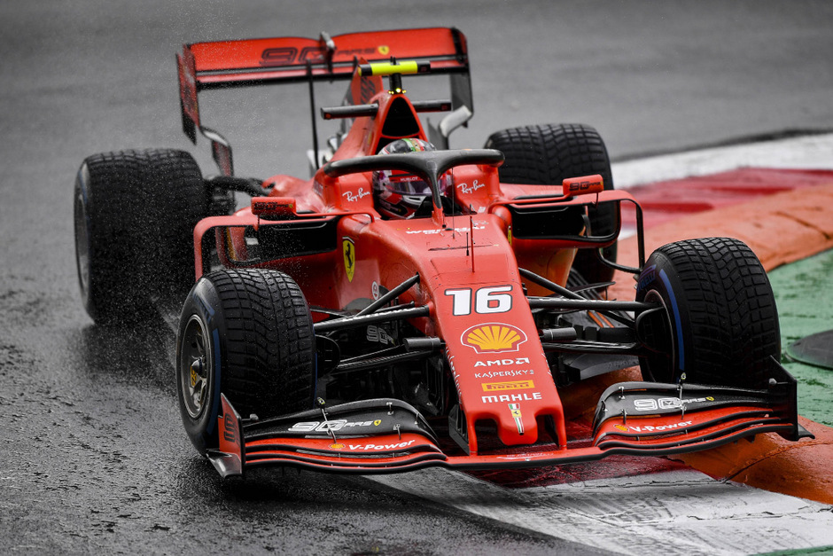 Charles Leclerc fand im Regen die schnellste Linie.
