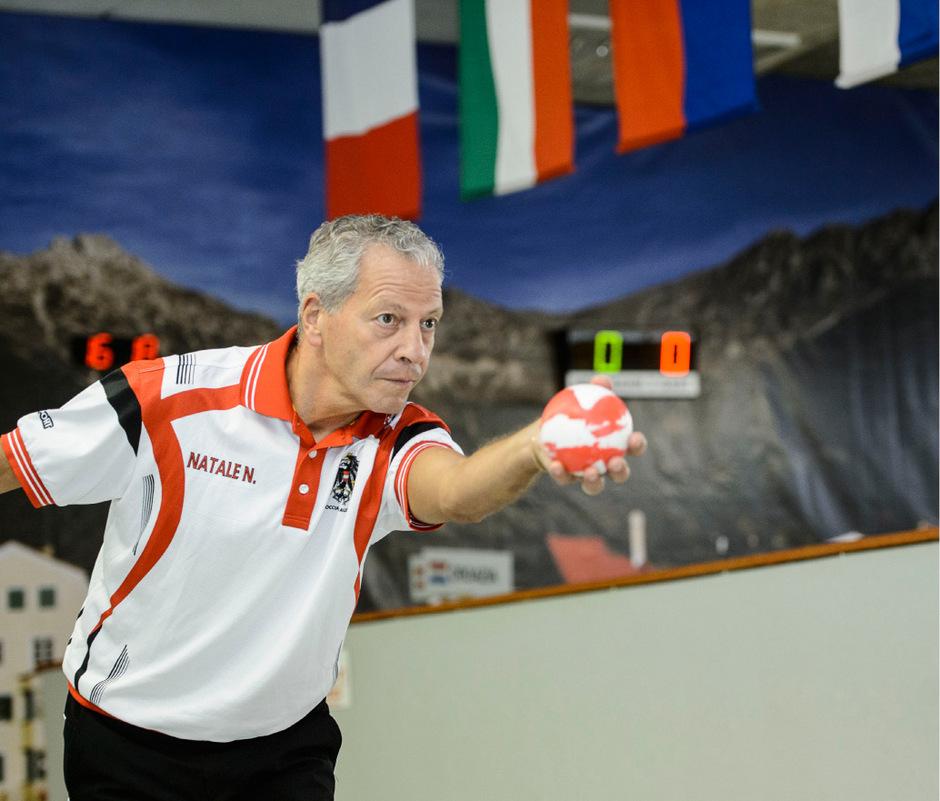 Tirols Boccia-Aushängeschilder: Niki Natale.