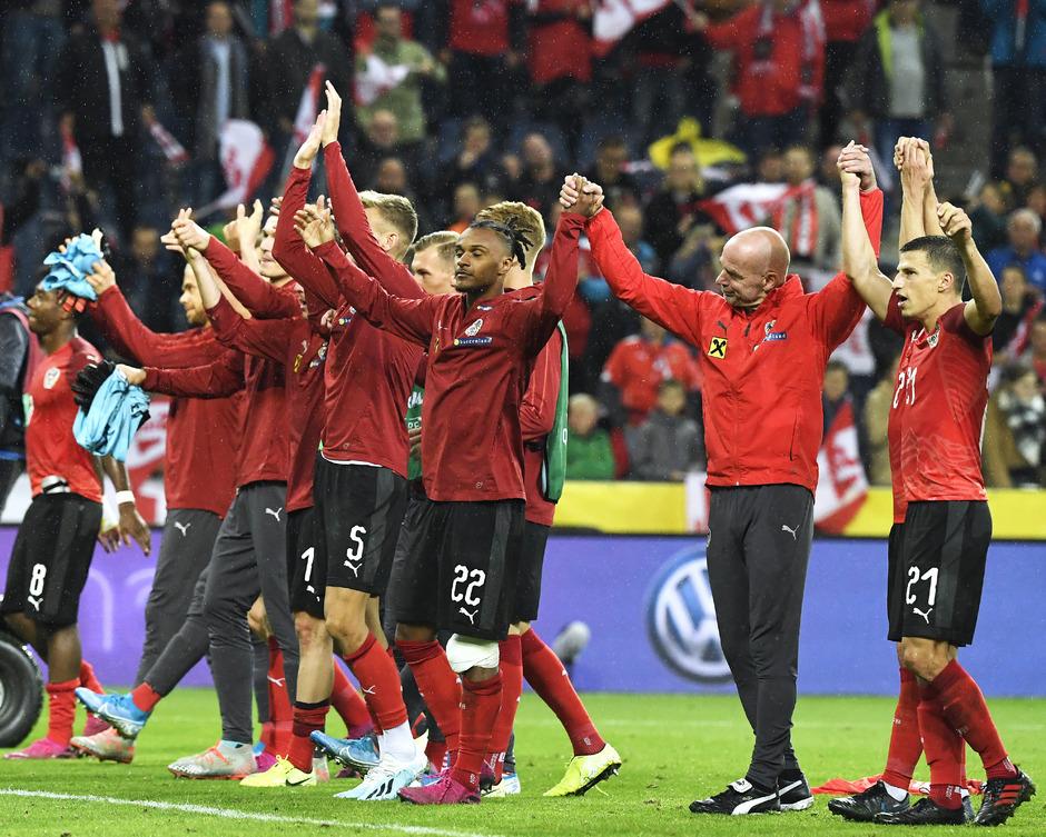 Die österreichische Nationalmannschaft durfte am Freitag jubeln.