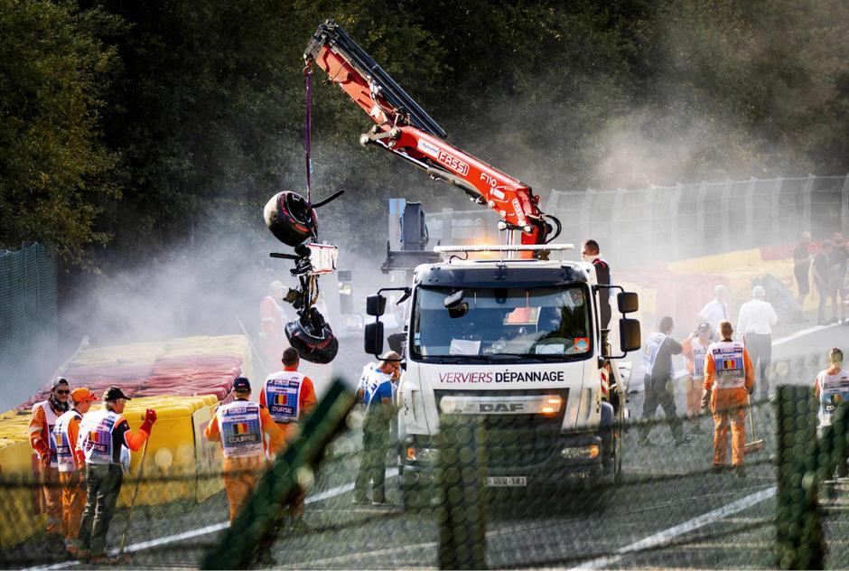 Das Auto von Juan Manuel Correa nach dem Horrorcrash in Belgien.