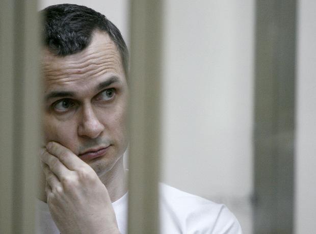 """Oleg Senzow, der bekannteste politische Gefangene aus der Ukraine. Er wurde 2014 festgenommen und verbüßt in einer Strafkolonie im russischen Teil der Arktis eine 20-jährige Haftstrafe wegen """"terroristischer Angriffe""""."""