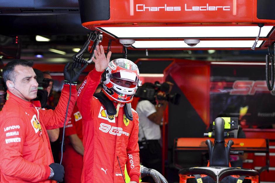 Die Nummer eins im Qualifying: Ferrari-Pilot Charles Leclerc.