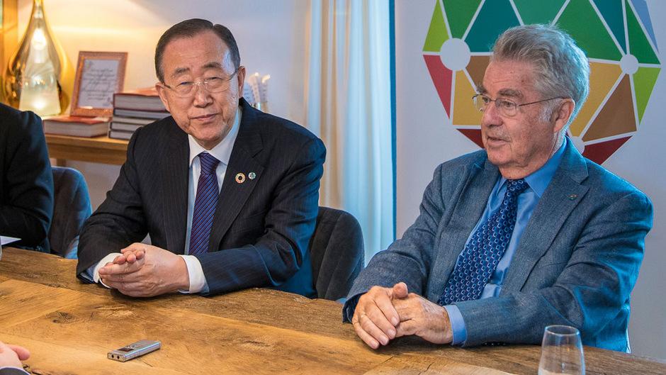 Ban Ki-moon und Heinz Fischer kommen beide gern nach Alpbach. Die beiden Senioren der internationalen Politik betätigen sich heute nicht zuletzt als Mahner und Warner.
