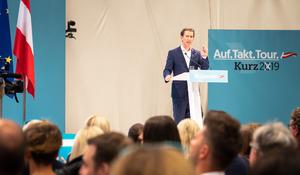 ÖVP-Parteiobmann und Ex-Kanzler Sebastian Kurz schwor die Volkspartei auf den 29. September ein.