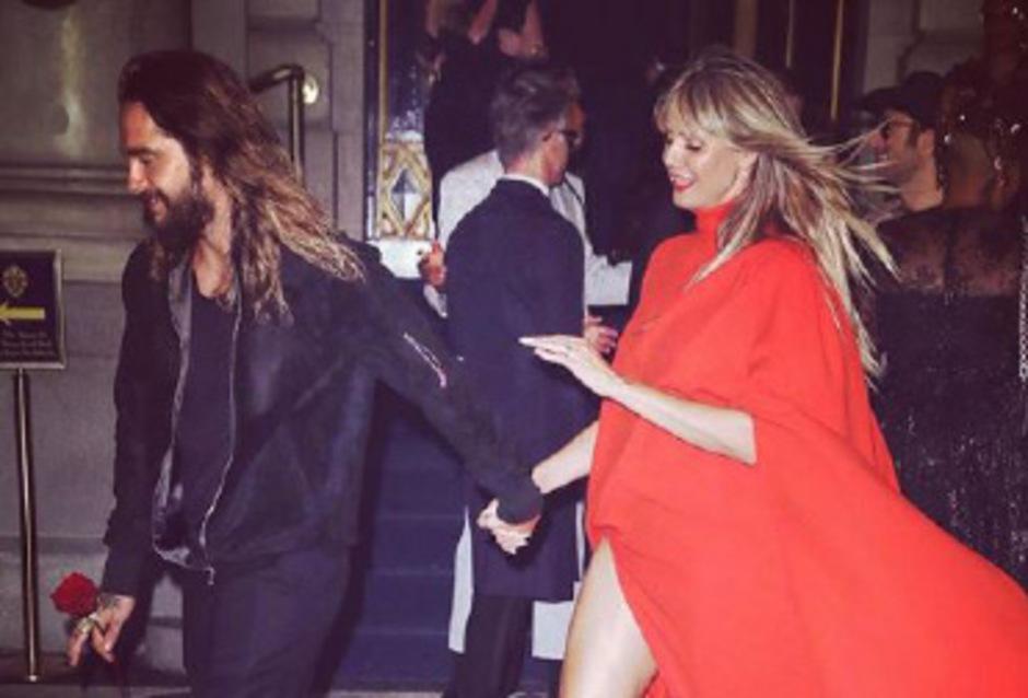 Tom Kaulitz und Heidi Klum auf der New Yorker Fashion Week.