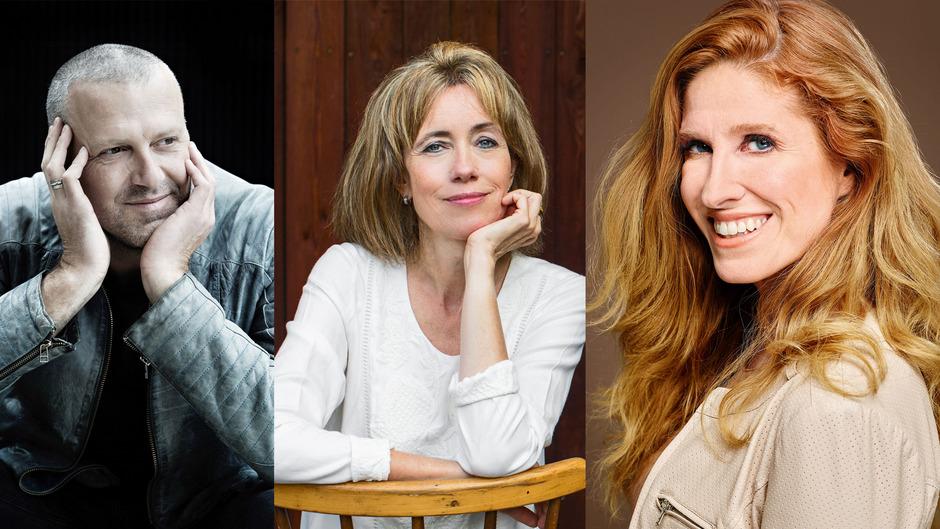 Spannungsprofis: Bernhard Aichner, Charlotte Link und Ursula Poznanski (von links).