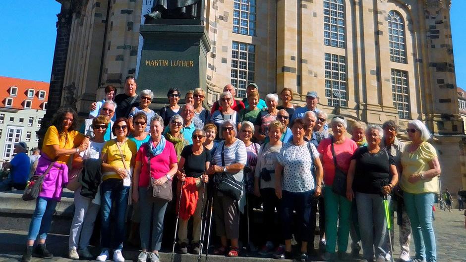 Die Kulturreise des Schwazer Seniorenbundes führte die 36 Teilnehmer auch zur Frauenkirche in Dresden.