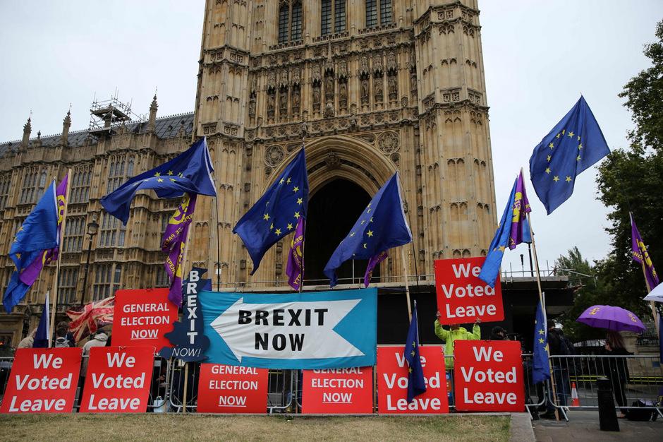 Pro-Brexit-Aktivisten in London.
