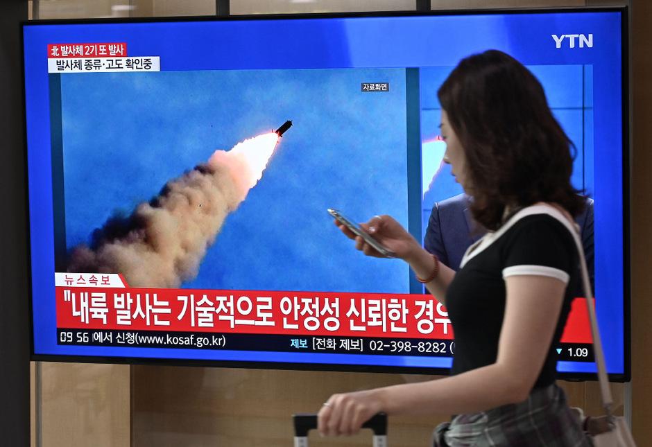 """Zwei """"Projektile"""" von kurzer Reichweite wurden in Richtung Japanisches Meer (koreanisch: Ostmeer) geschossen."""