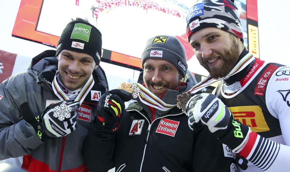 Gemeinsam mit Hirscher und Schwarz jubelte Matt bei der WM in Aare vom Slalom-Podest. Wer tritt im ÖSV die Nachfolge des jahrelangen Branchen-Primus an?