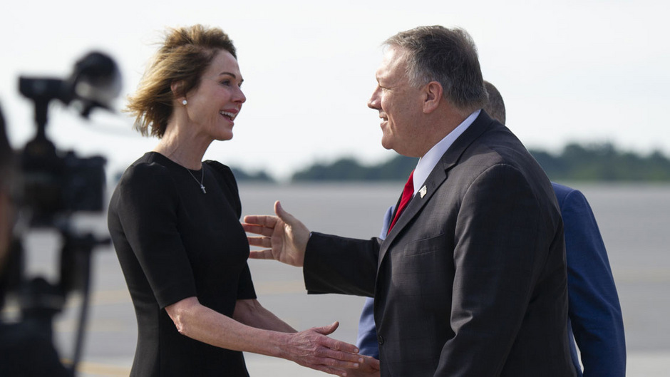 Kelly Craft mit US-Außenminister Mike Pompeo in Ottawa.