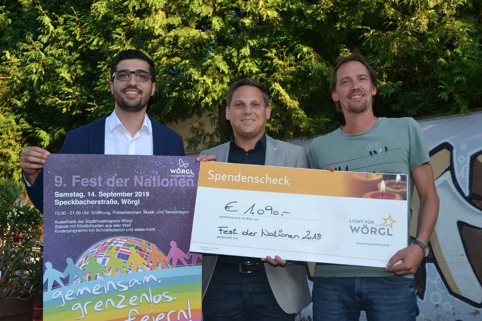 GR Kaya Kayahan, NR Christian Kovacevic und Klaus Ritzer (v.l.) präsentierten das Programm für das Fest der Nationen.