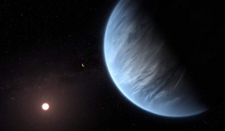 Der 110 Lichtjahre entfernte Exoplanet K2-18b.