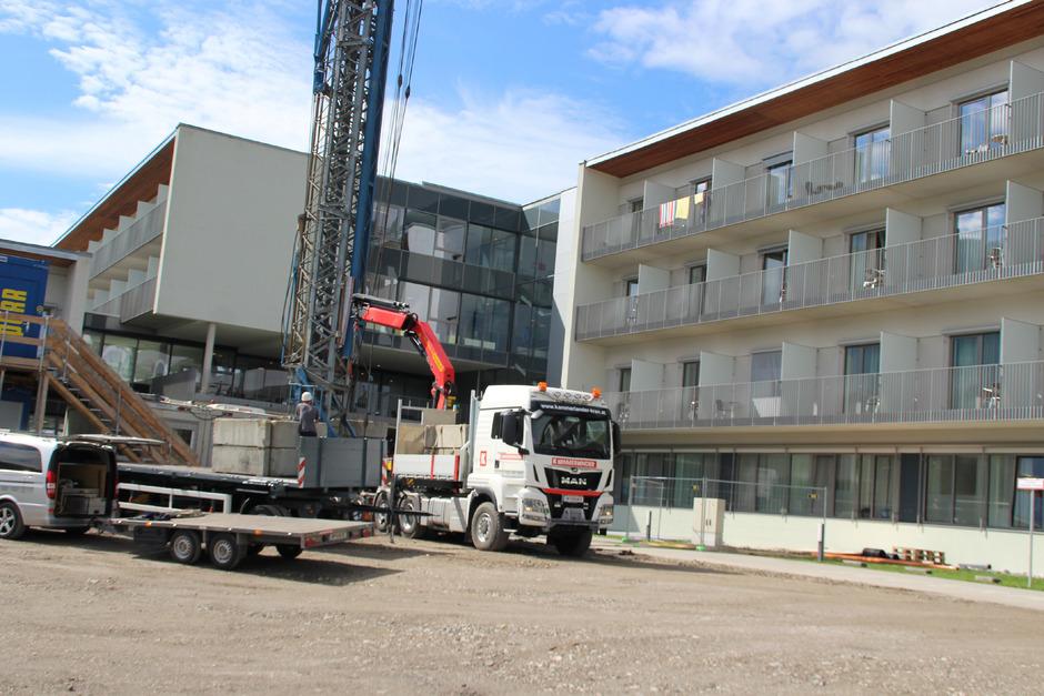 Schon seit August laufen die Arbeiten zur Erweiterung des Haupthauses und des Therapiebereiches im Reha-Zentrum Münster. Rund 16 Millionen Euro werden in das Projekt investiert.