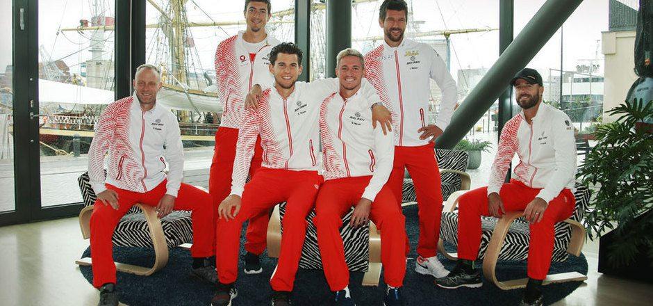 Stefan Koubek will mit Ofner, Thiem, Novak, Melzer und Marach auch nach dem Finnland-Gastspiel Grund zum Lächeln haben.