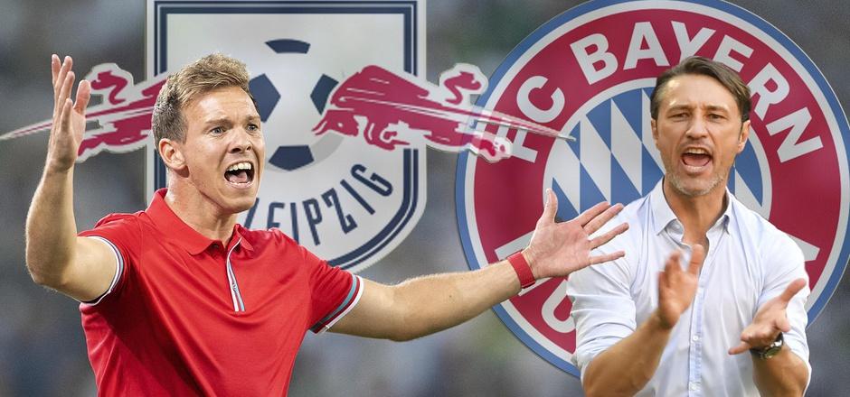 Das Duell Lepzig - Bayern wird auch auf den Trainerbänken entschieden: Julian Nagelsmann fordert Niko Kovac heraus.