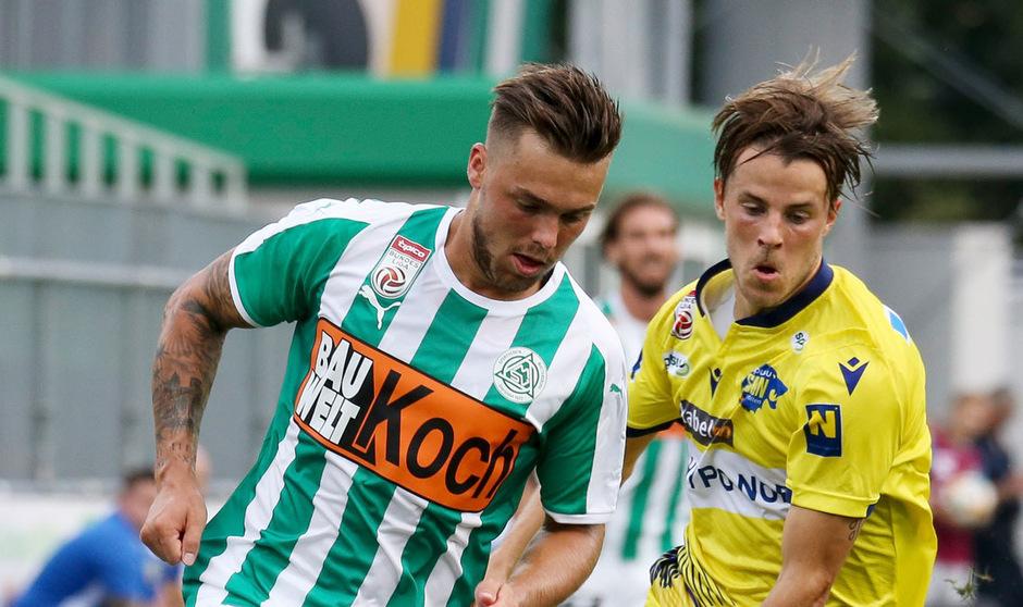 Michael Lercher (l.) hat sich in Mattersburg zurück in die Startelf gespielt.