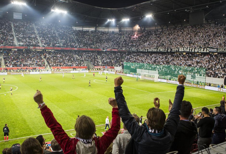Das Wörthersee Stadion in Klagenfurt. (Im Bild: Das ÖFB-Cupfinale zwischen  SK Sturm Graz gegen Red Bull Salzburg im Mai 2018)
