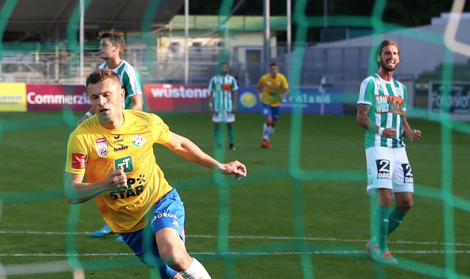 Stürmer Zlatko Dedic traf per Elfmeter für die WSG Tirol.