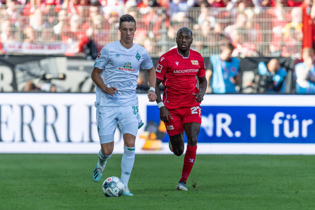 Der Tiroler Marco Friedl holte mit Bremen einen 2:1-Sieg gegen Union Berlin.