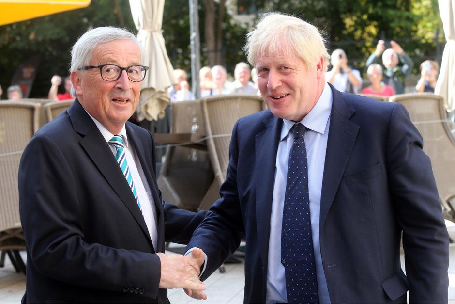 EU-Kommissionschef Jean-Claude Juncker und der britische Premier Boris Johnson bei ihrem Treffen am Montag.