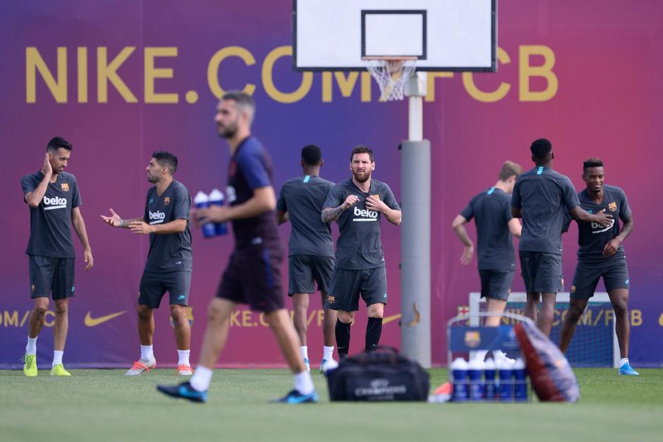Am Montag strainierte Lionel Messi wieder mit seinem Team.