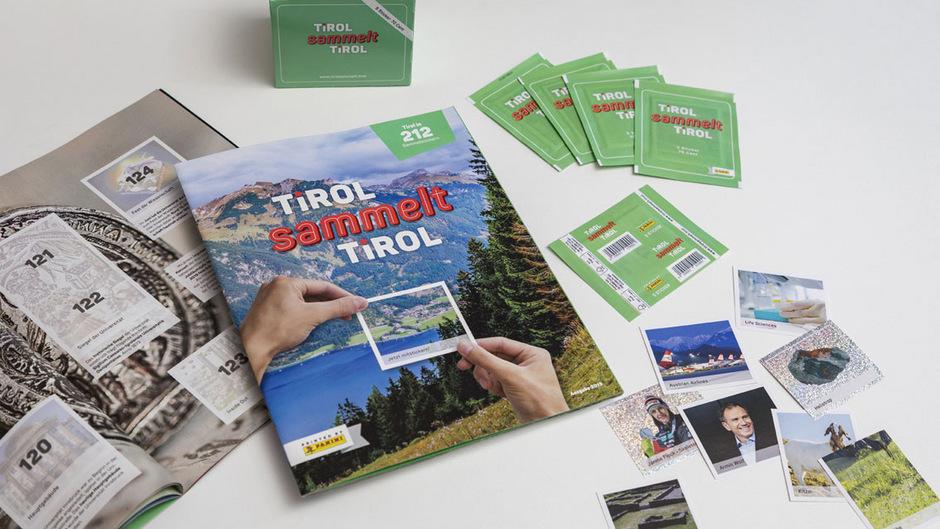 """Seit Montag ist das erste Tirol-Stickeralbum """"Tirol sammelt Tirol"""" erhältlich."""