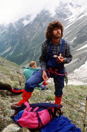 Reinhold Messner während eines Aufstiegs zum Hohen Angelus in Südtirol (undatiertes Archivfoto).
