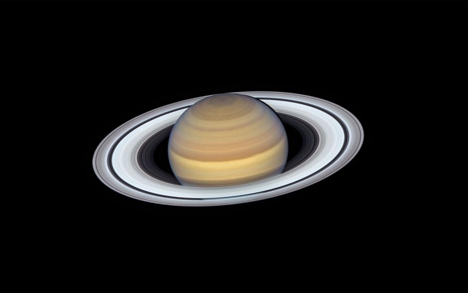 Der Saturn in seiner vollen Pracht.