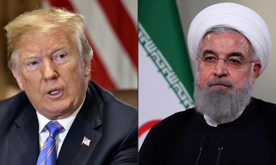 US-Präsident Donald Trump (l.) und sein iranischer Amtskollege Hassan Rouhani.