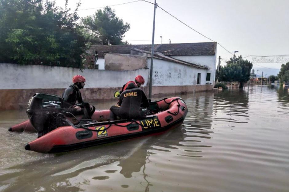 Die Provinzen Murcia und Valencia erwischte es bei den Unwettern sehr schlimm.