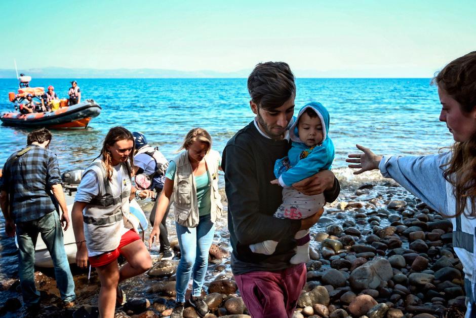 Täglich erreichen derzeit Migranten per Boot die griechischen Inseln.
