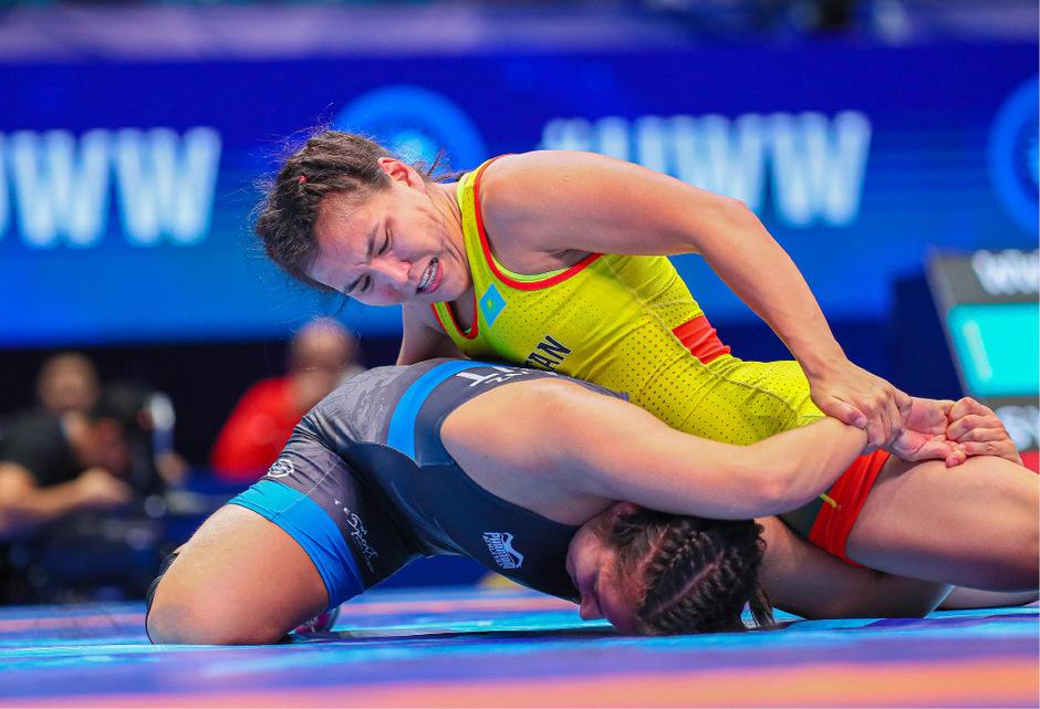 Martina Kuenz musste sich ihrer kasachischen Gegnerin klar geschlagen geben.