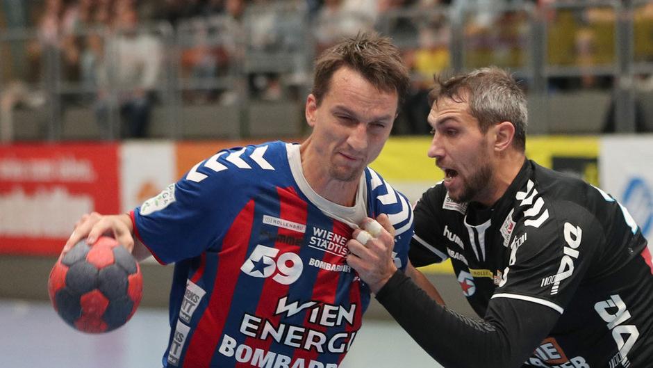 Alexander Pyshkin (r.) und Co. mussten im Fivers-Dress spielen und verloren 24:28.