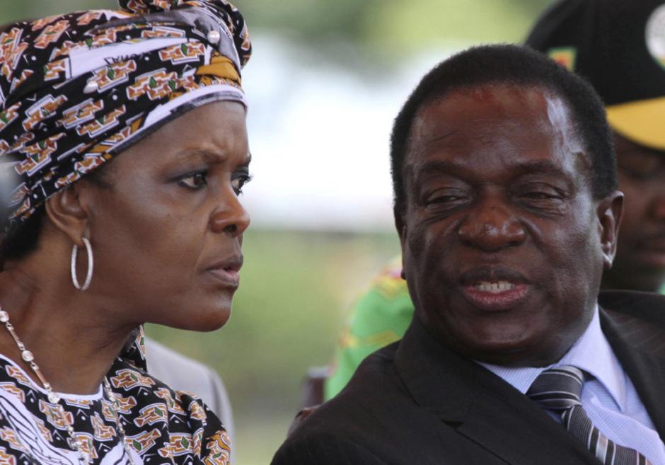 Robert und Grace Mugabe.