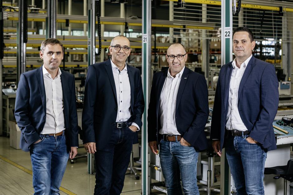 Harald Niedrist, Georg Pranter, Andreas Kraler und Christian Schaller (v.l.) managen die Hella-Holding.