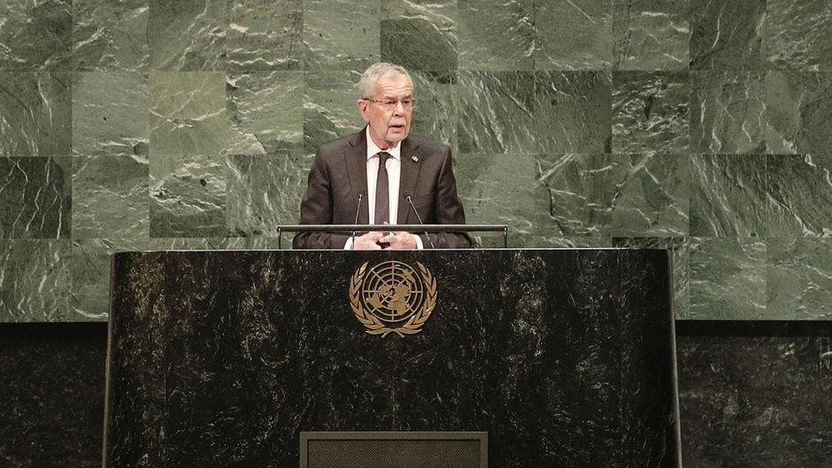 Bundespräsident Alexander Van der Bellen beim UNO-Klimaschutz-Treffen in New York im März. Nun reist er zum UNO-Klimagipfel.
