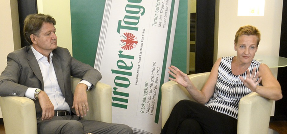 Sachlich und weitgehend harmonisch verlief die Diskussion zwischen NEOS-Kandidat Helmut Brandstätter und der NEO-Grünen Sibylle Hamann in der Wiener TT-Lounge.