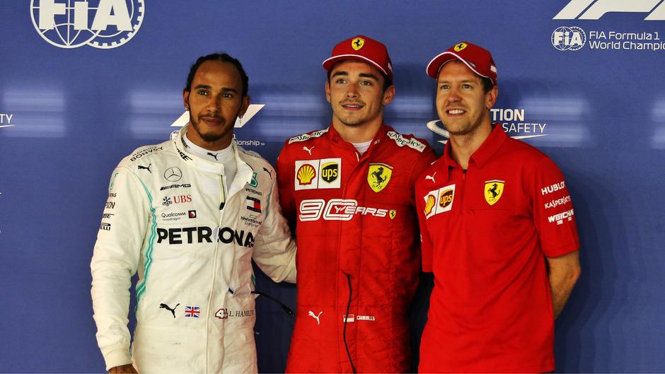 Der Ferrari-Jungstar Charles Leclerce erzielte am Samstag im Qualifying Bestzeit vor Weltmeister Lewis Hamilton (Mercedes) und Teamkollege Sebastian Vettel.