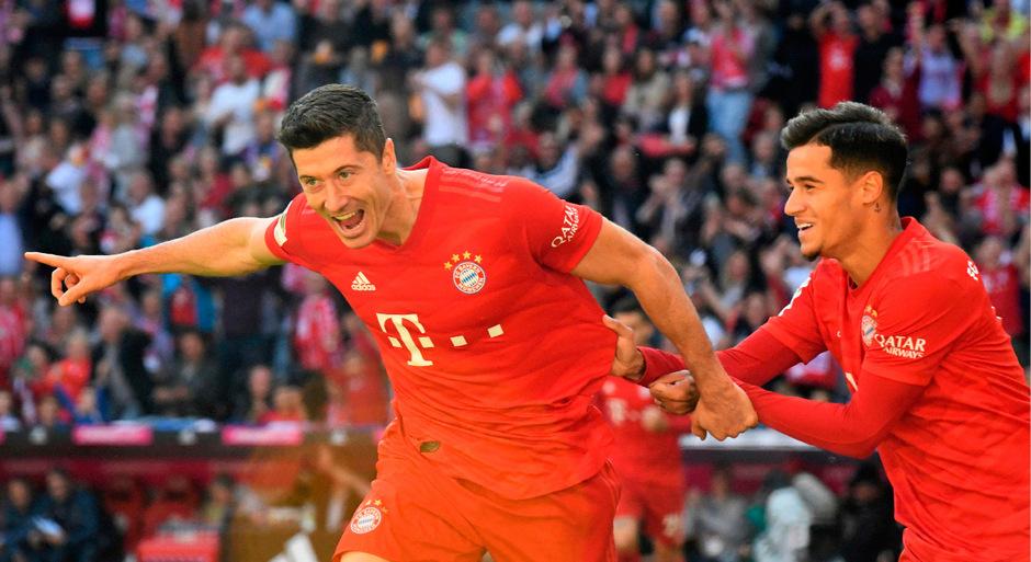 Torjäger Robert Lewandowski war bereits in der 3. Minute erfolgreich und machte sich zum ersten Bayern-Angreifer seit 19 Jahren, der an den ersten fünf Spieltagen getroffen hat.