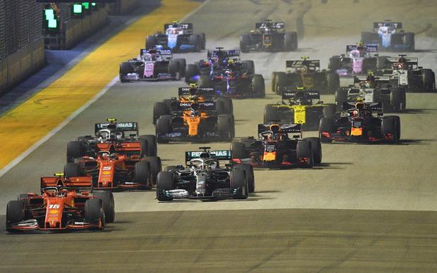 Der Start beim Grand Prix von Singapur verlief ohne gröbere Zwischenfälle.