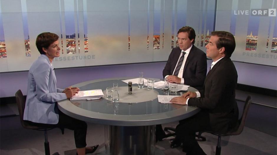 """Pamela Rendi-Wagner (SPÖ) erklärte in der ORF-""""Pressestunde"""", dass ihr Ziel trotz der Umfragewerte Platz eins sei."""